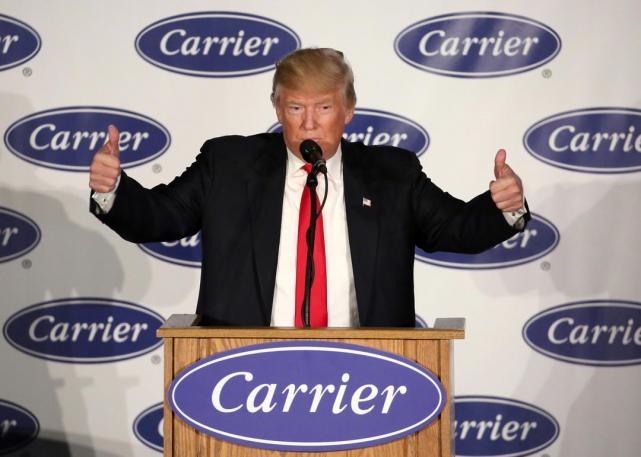 Trump convence a Carrier de no traer fábrica al País